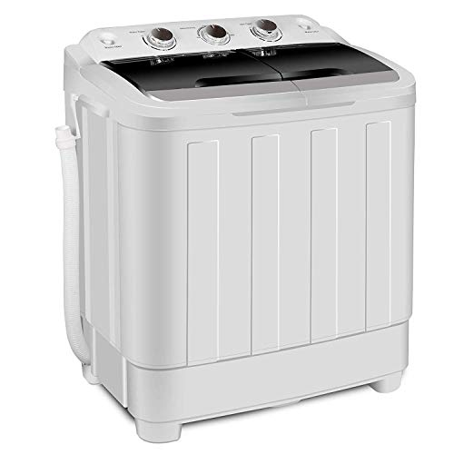HomGarden Portable Washer Compact Mini Twin Tub Washing Machine w/Washer Spinner Cycle Spin Dryer, 13lbs Capacity For Camping, Apartments, Dorms