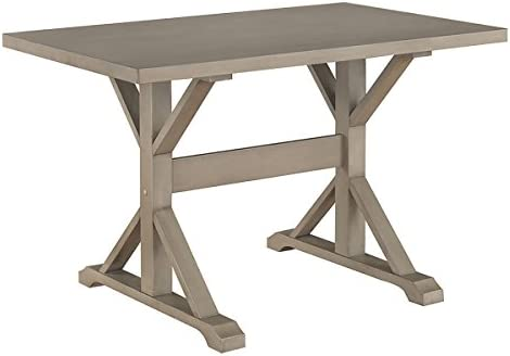 Carolina Chair Table Florence 30 x 48 Trestle Table, Weathered Gray