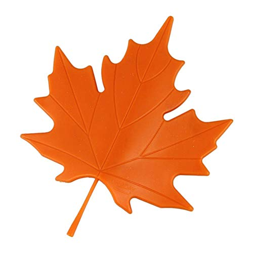 Bathroom Accessories Sets - 2pcs Lot Orange Red Novelty Autumn Maple Leaf Bathroom Door Stopper Stops Holder Resistance - Women Decoration Robe Above Hooks Organizer Dollars Sets Lucite ()
