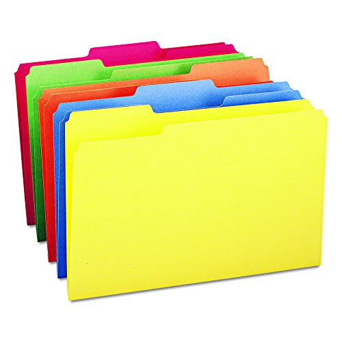 Smead File Folder, 1/3-Cut Tab, Legal Size, Assorted Colors, 100 per Box (16943) -