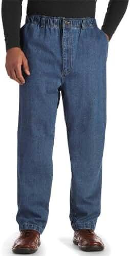 Harbor Bay Big & Tall Full Elastic Jeans