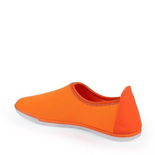 Ideal Shoes Tennis Canvas und Farbig Margot Orange