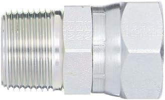 Straight Adapter 1-1//2 in Male JIC 37/° Flare x 1-1//2 in Male JIC 37/° Flare Brennan Steel 7 Units