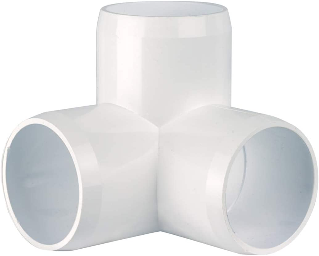 "CIRCOPACK 2 pieces, 1½"" 3 way PVC Elbow Fitting Connectors Furniture Grade"