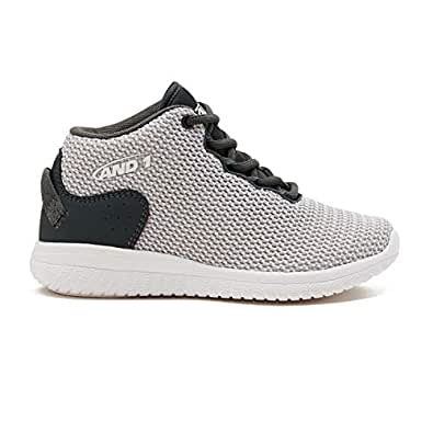 AND1 Kids Shoe BWYLIN Basketball Sneakers 7 Big Kid Black/Silver