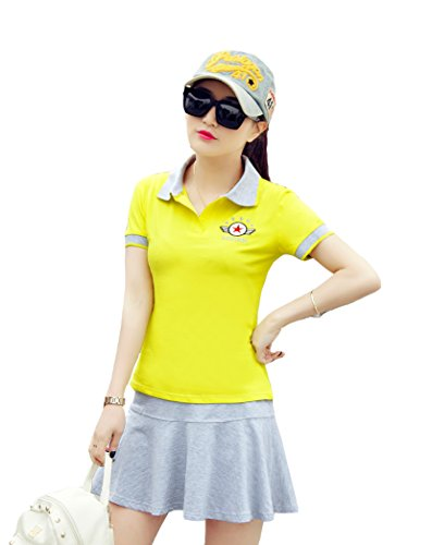 「ReiRei」レディーステニスウェア可愛い スポーツウェア上下 スーツ 運動着 Tシャツ 半袖 ミニスカート