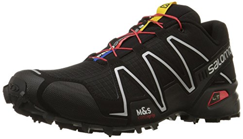 Salomon Men's Speedcross 3 Trail Running Shoe,Black/Black/Silver Metallic-X,8.5 M US