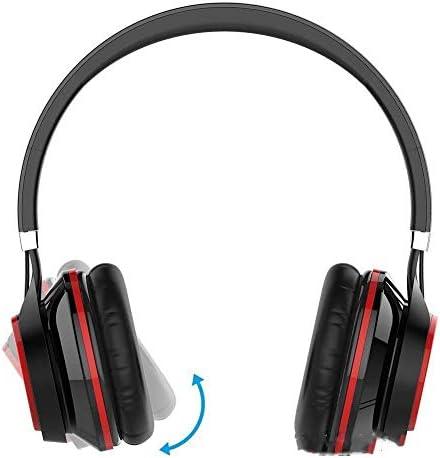 RENKUNDE 簡単に身に着けていると快適さのための黒のケーブルのゲーミングヘッドセットヘッドマウント調整可能なボディボタン ゲーミングヘッドセット