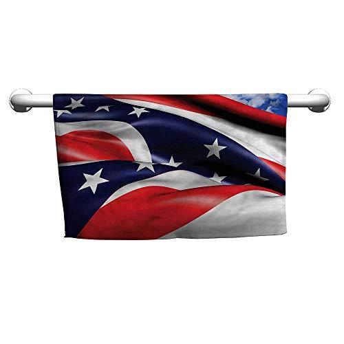 Bensonsve Style Towel American,Waving Ohio Flag Stars,Sweat Towel for car seat