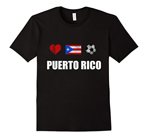Men's Puerto Rico Football Shirt - Puerto Rico Soccer Jersey Large Black
