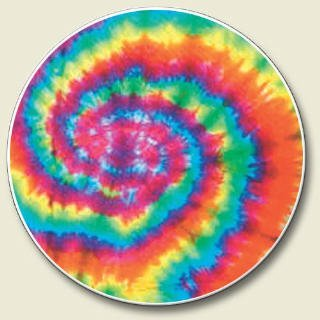 (Tie dye sixties pyschedelic Auto Coaster, Single Coaster for Your Car cup holder by Highland Graphics)
