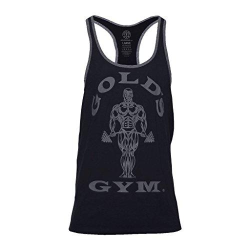 Golds Gym 2018 Muscle Joe Contrast Stringer Vest Mens Fitness Training Gym Y-Back Tank Top