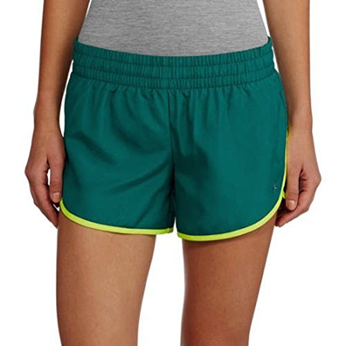oven Running Shorts With Built-In Liner, Size X-Small, Color Cabo Blue/Acid Yellow ()