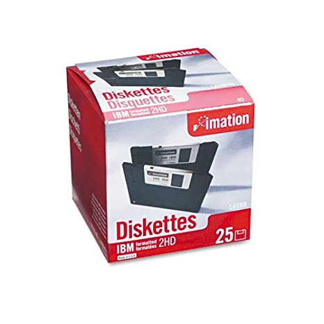 Black 10 Pack 3.5 DS-HD IBM Formatted Imation