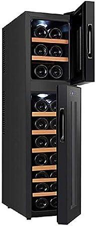 YFGQBCP Hogar del refrigerador de Vino, Funcionamiento silencioso termoeléctrica Independiente Pequeño Temperatura Constante de 18 Doble electrónico de la Temperatura de Almacenamiento del Vino