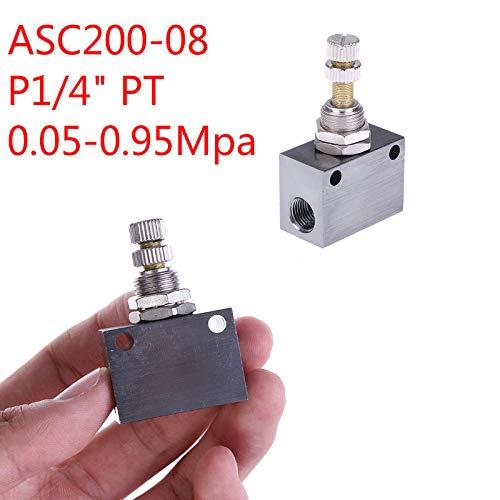 "1//8/"" Pneumatic Flow Speed Control Valve Aluminum Alloy Air Flowing Control Valve"