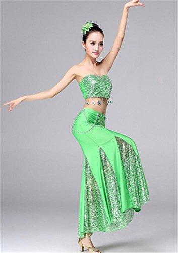 de spectacle des Green la de scène femmes de danse danse Costumes nationale de robes TqWwzYwZv
