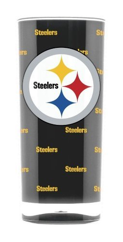 Pittsburgh Steelers Tumbler - Square Insulated (Pittsburgh Steelers 16 Oz Crystal)
