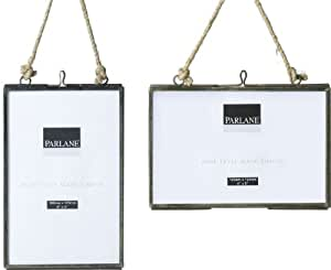 Dos unidades para colgar marcos de fotos de cristal - 10,16 cm x 12,7 cm para fotos