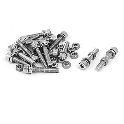 eDealMax M5 x 30 mm 304 acero inoxidable tornillos de cabeza ...