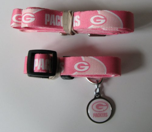Hunter Green Bay Packers Pet Collar, Pink, Large