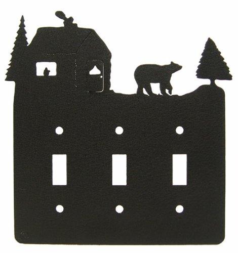 - Bear & Cabin Triple Light Switch Plate Cover