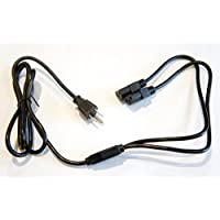 Dual Monitor Computer Screen Power Cord Cable 6 Foot AC 3 Prong Power Cord UL Approved