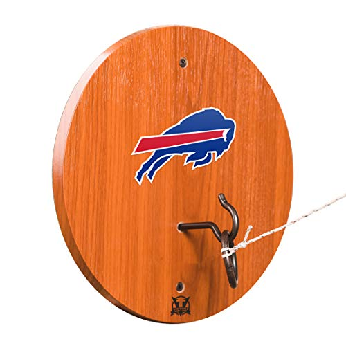 Victory Tailgate Buffalo Bills Hook & Ring Toss - All Wood Target with Rubbed Bronze Hook and Ring - More Teams Available ()