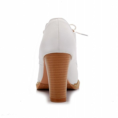 White Lace heel Chuky Shoes High Chic Women's Latasa Oxford up qw7Zxzy