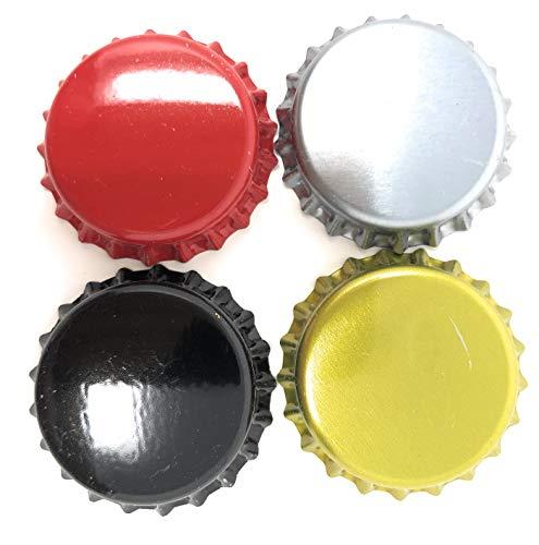 Beer Bottle Crown Caps Oxygen Absorbing for HomeBrew, 4 Colors (200 Pack)