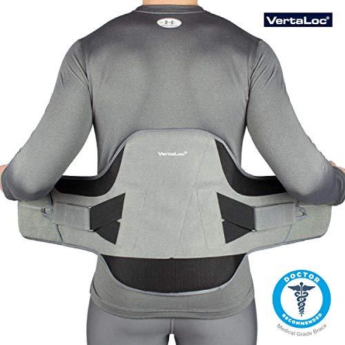 VertaLoc Flex FIT Medical Grade Back Brace and Support for Lower Back Pain - Large