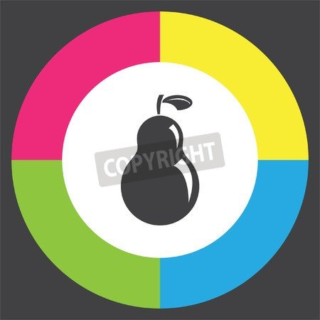 adrium Pear Vector Icon. Fruit Sign. Organic Food Símbolo ...
