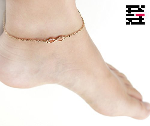 16K Gold Tiny Infinity Anklet - Dainty Personalized Delicate Gold Silver Rose Gold Plated Anklets (Homemade Pilgrim Costumes)