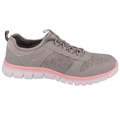 Rosa 816109 Foster Malla Lt Cómodas Para Correr Gris Zapatillas De Deportivas Ligeras Casuales Gimnasio Galop Mujer UqZqpRx