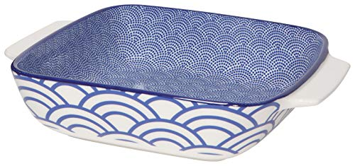 Now Designs 5092013aa Stamped Porcelain Baking Dish,