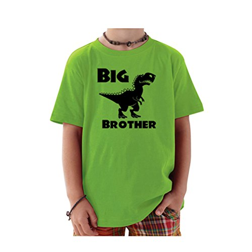 Price comparison product image We Match! Big Brother T-Rex Dinosaur Toddler & Kids T-Shirt (Apple,  5 / 6T)