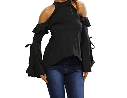 YeeATZ Sexy Flirt Cold Shoulder Ruffle Flare Sleeve - Shopping Price Minimum Online