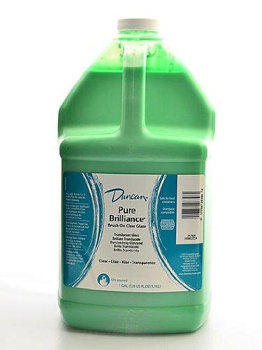 Duncan Pure Brilliance Clear Glaze brush-on glaze 1 gal. pour-spout - Ceramic Pure
