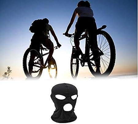 Wysummer Sturmhaube Gesichtsmaske Damen Herren Dünn Drei Löcher Vollgesichtsmaske Für Motorrad Fahrrad Jagd Radfahren Mütze Ski Schwarz Beauty