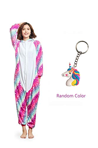 Onesies For Teenage Girls (NOUSION Licorne Unisex Adult Pajamas, Cosplay Christmas Unicorn Sleepwear Onesies Outfit (S, Sky Unicorn)