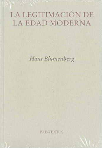 Book Legitimacion de la edad moderna, la