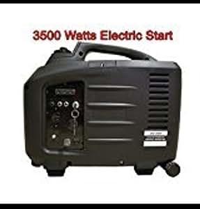 2018 - 3500 Watt Digital Generator - Pure Sine Wave Inverter - Electric Key Start (Black)