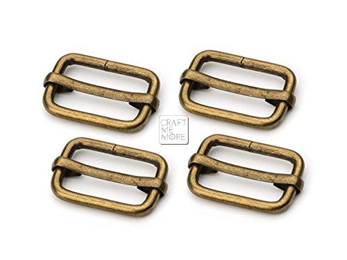 Blue Dog Antiques (CRAFTMEmore Movable Bar Slide Strap Adjuster Rectangle Strap Keeper Triglide Belt Keeper Purse Making 5/8