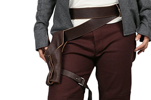 [SW Rey Belt with Thigh Holster&Canvas Shoulder Bag For Hollowen] (Hollowen Adult Costumes)