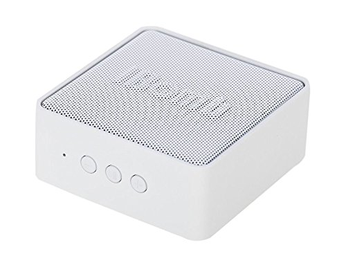 iBomb(TM) EX500 Cube Super Woofer Wireless Portable Bluetooth 3.0 Speaker with 3.5mm AUX Input, Microphone, Rechargeable Super Bass Fashion Mini Speaker (White) by iBomb