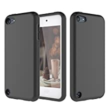 iPod Touch 5 Case, iPod Touch 6 Case, KZONO Heavy Duty High Impact Armor Case Cover 2in1 Soft Shell Protective Case for Apple iPod touch 5 6th Generation -Full Black