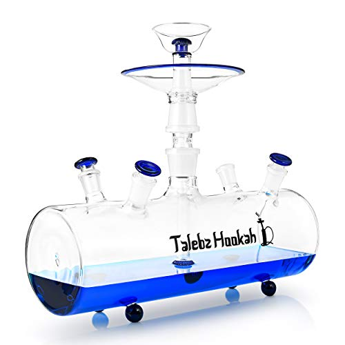 Talebz Hookah | Premium Tobacco Water Pipe Glass Hookah Set | Luxury Handmade Glass Hookah