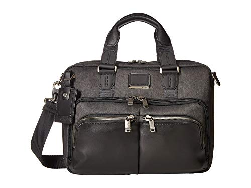 TUMI - Alpha Bravo Albany Laptop Slim Commuter Brief Briefcase - 14 Inch Computer Bag for Men and Women - Graphite