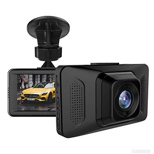Dashcams Vehicle Video Recorder 1080P Dash Cam with 2 Mounts for Cars and Trucks Single Front Dashboard Camera