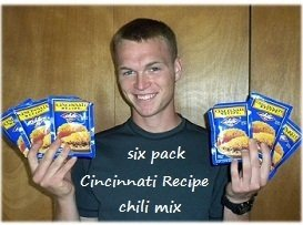 (6 Pack Cincinnati Chili Mix Packets)